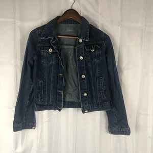 Levi cropped denim jewel jacket